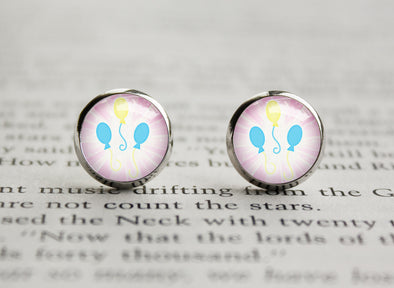 Pony MLP cutiemark Pinkie Pie baloons earrings