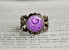 Poison Type Pokemon Symbol antique bronze ring