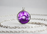 Poison Type Pokemon Necklace Themed Pokeball pendant
