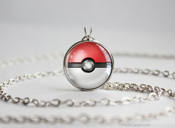Pokemon Pokeball Necklace Pendant