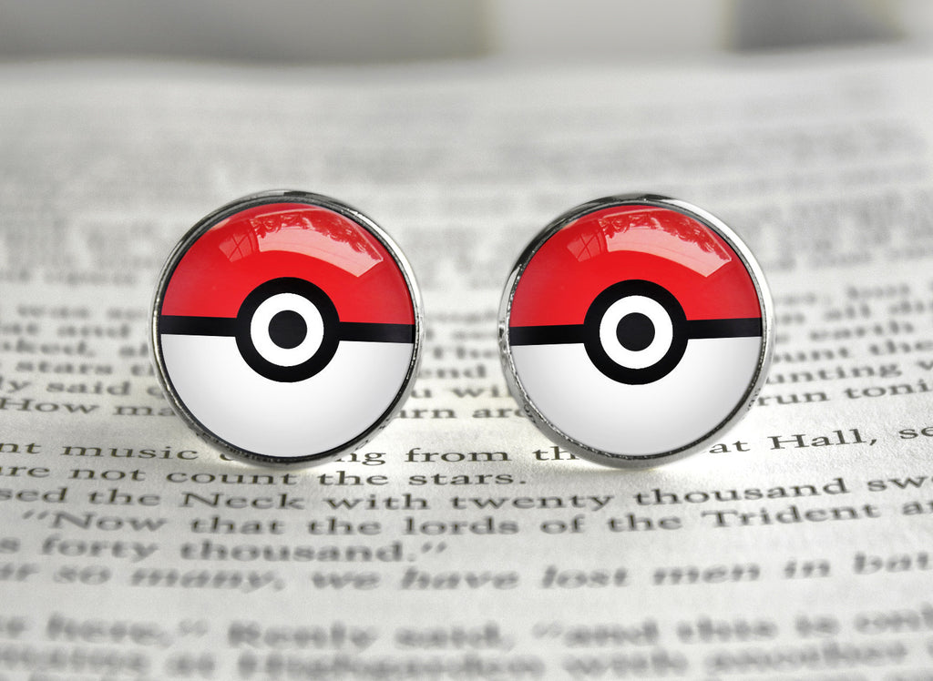 Pokeball cufflinks