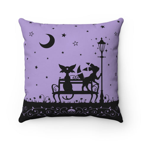 PKMN Eeveelution Starry Night Throw Cushion Purple