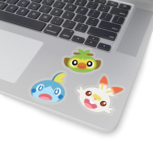Scorbunny Sobble Grookey Starter Pokemon Stickers