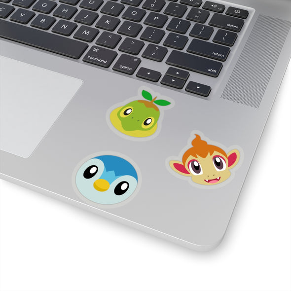 Pokemon Gen Four Sinnoh Starter Pokemon Stickers