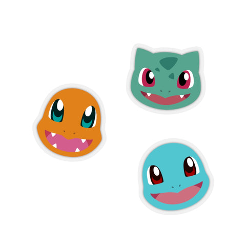 Pokemon Gen One Kanto Starter Pokemon Stickers