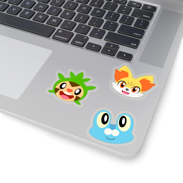 Pokemon Gen Six Kalos Starter Pokemon Stickers