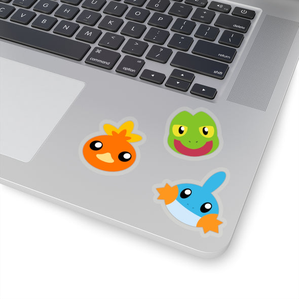 Pokemon Gen Three Hoenn Starter Pokemon Stickers