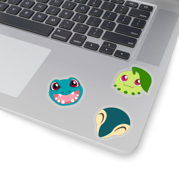 Pokemon Gen Two Johto Starter Pokemon Stickers