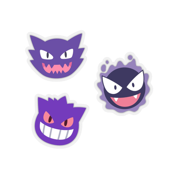 Pokemon Ghost Type Pokemon Stickers