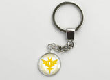 Pokemon GO Team Instinct Symbol Key Chains