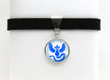 Pokemon GO Team Mystic Symbol Choker Necklace
