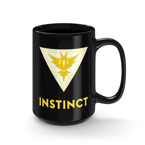 Pokemon GO mug Team Instinct Symbol Tall Black Mug