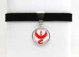 Pokemon GO Team Valor Symbol Choker Necklace