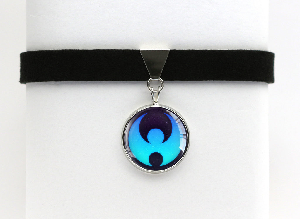 Pokemon Moon Emblem Choker Necklace