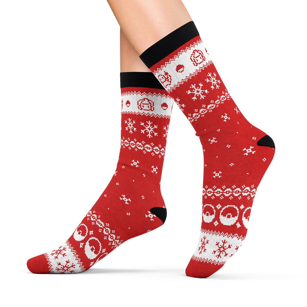 Pokemon Ugly christmas sweater socks