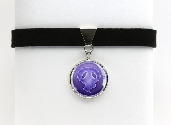 Ghost Type Symbol Pokemon Choker Necklaces