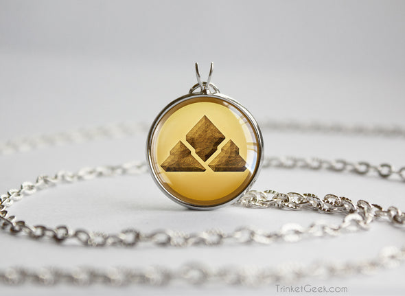 Pokemon necklace ground type symbol