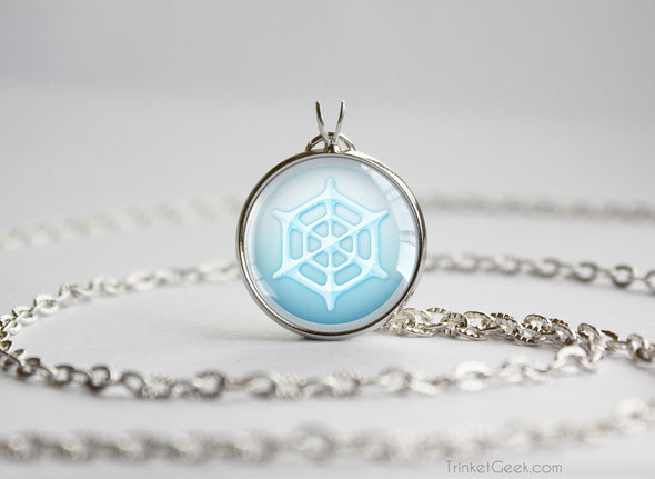 Pokemon necklace pendant Ice type symbol