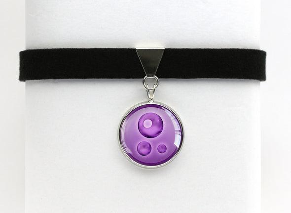 Poison Type Symbol Pokemon Choker Necklaces