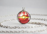 Pokemon Primal Pokeball Pendant Groudon neckalce