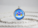 Pkmn ORAS Hoenn Weather Trio Primal Kyogre Chibi Portrait necklace