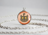 Pumpkaboo Pokemon Chibi Portrait necklace