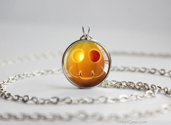 Pokemon Halloween Pumpkin Duskull Necklace