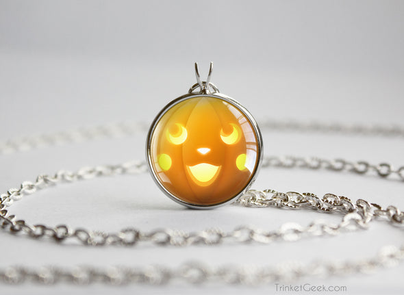 Pokemon Halloween Pumpkin Pikachu Necklace