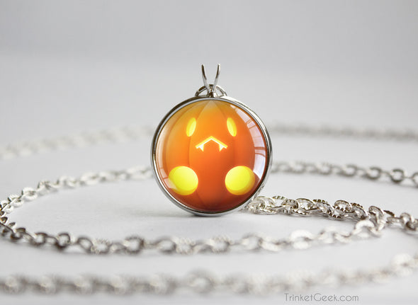Pokemon Halloween Pumpkin Pumpkaboo Necklace