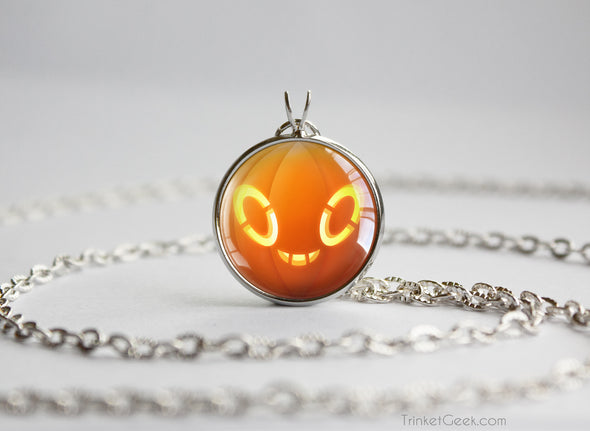 Pokemon Halloween Pumpkin Rotom Necklace