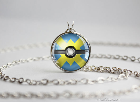 Pokemon Pokeball Quick Ball Necklace Pendant