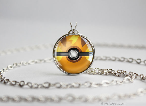 Pokemon Raichu Pokeball necklace