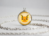 Raichu Pokemon Chibi Portrait necklace