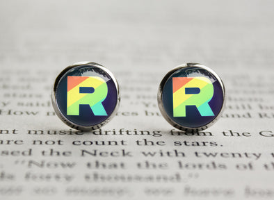 Pkmn Team Rainbow Rocket earrings
