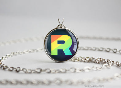Pokemon Team Rainbow Rocket Pendant Necklace