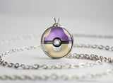 Pokemon Rattata Themed Pokeball Pendant