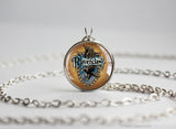 Potter necklace house blue ravenclaw emblem sigil silver