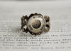 Rock Type Pokemon Symbol antique bronze ring