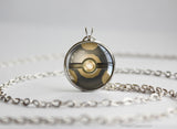 Rock Type Pokemon Necklace Themed Pokeball pendant