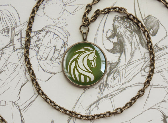 LOTR necklace Crest of Rohan