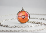Rotom Heat Pokemon Pokeball Pendant Necklace