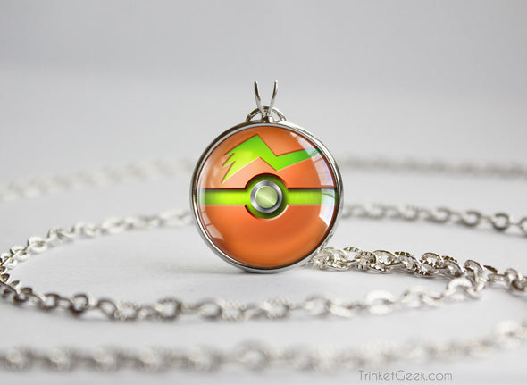 Rotom Mow Pokemon Pokeball Pendant Necklace