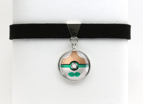 Rowlet Pokemon Pokeball Choker Necklaces
