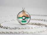 Rowlet Pokemon Alola Starter Themed Pokeball pendant