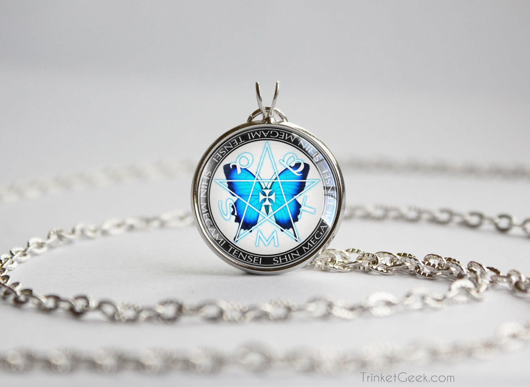 product butterfly collection eric green blue necklace