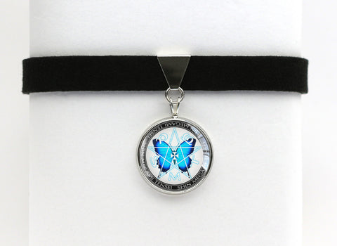 SMT Blue Butterfly Choker Necklace Persona