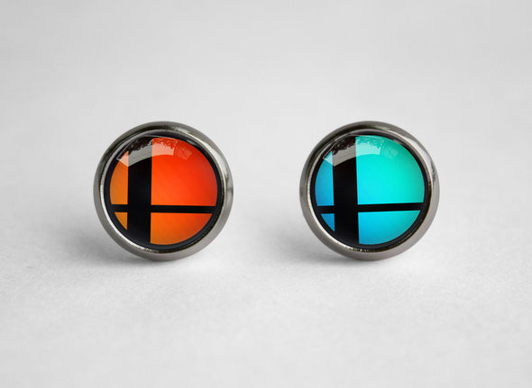 Super Smash earrings Bros symbol ball