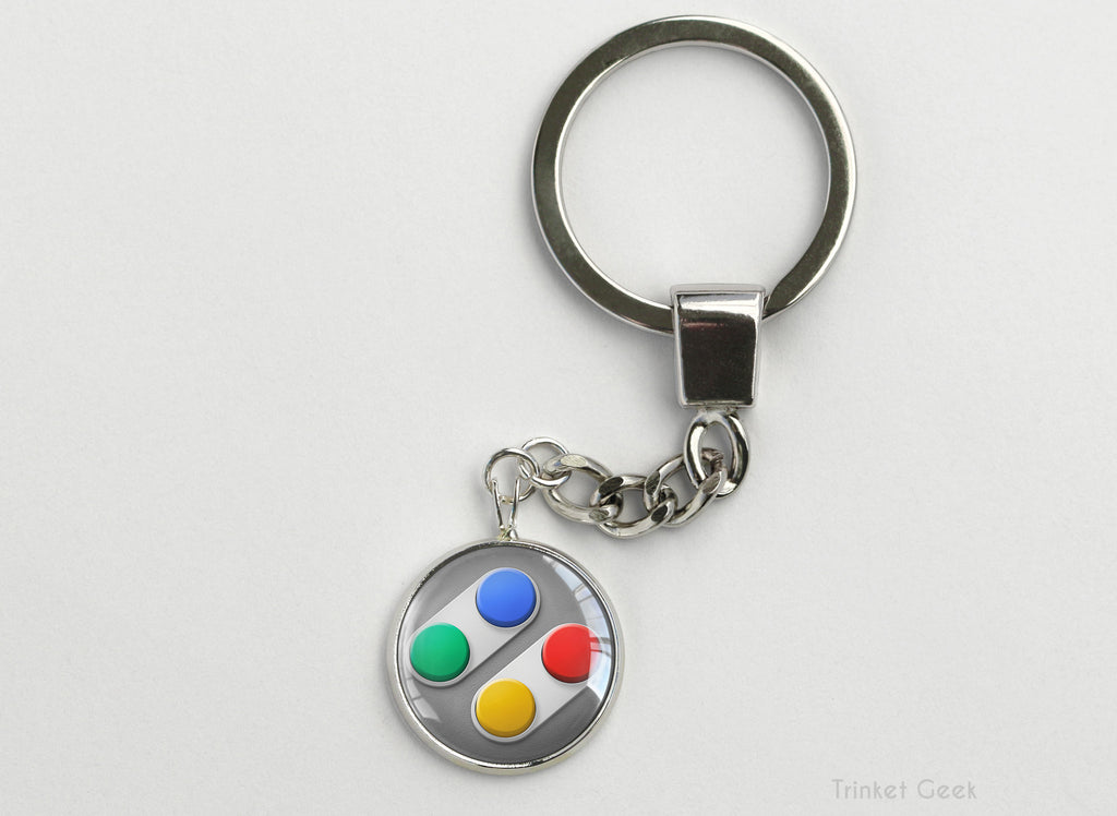 SNES Console Controller Key Chain