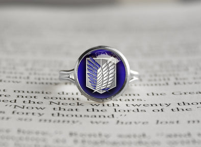 Attack on Titan Shingeki no Kyojin silver ring SNK Survey core / Scouting legion