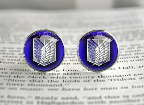 Attack on Titan Shingeki no Kyojin cufflinks SNK Survey core / Scouting legion